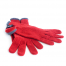 Short Cashmere Gloves Red - Teixidors