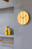 Parallels Wall Clock Yellow - Omelette ed