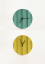 Parallels Wall Clock Yellow & Blue - Omelette ed