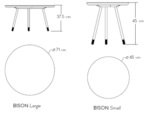 Bison Side Tables | BarcelonaConcept