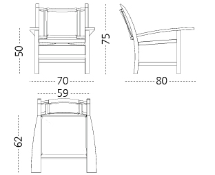 Torres Clavé arm chair - M114